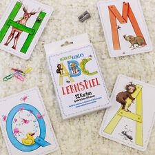 ABC Lernspiel mit Tieren 32 Karten Buchstaben Alphabet lernen Schule Kinder