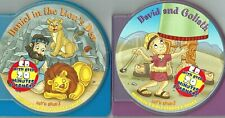 2 BOOK CD Songs Music Childrens Bible Story Kids Stories Daniel David & Goliath