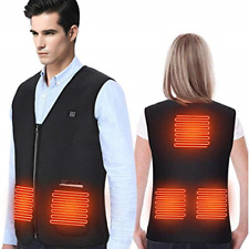 DOACT Heated Vest Jacket, Electric Body Warmer, USB Charging Heat Cloth for and