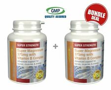 Magnesium 375mg with Vitamin B Complex BUNDLE DEAL 120+120 (240) Tablets