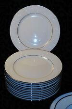 NORITAKE IVORY CHINA JAPAN 7550 MARSELLE DINNERWARE SET 12SALAD PLATES PLATINUM