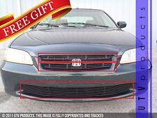 GTG 1998 - 2000 Honda Accord 4dr 3PC Gloss Black Overlay Combo Billet Grille Kit