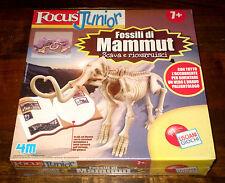 Fossili di MAMMUT Animali preistorici Focus Junior 7+ LISCIANI Giochi 2006