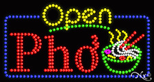 """NEW """"OPEN PHO"""" 32x17 SOLID/ANIMATED LED SIGN W/CUSTOM OPTIONS 25435"""
