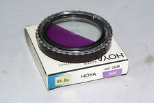 Hoya 55mm Gradual Color Violet Filter Special Effect 35mm SLR DSLR film Digital