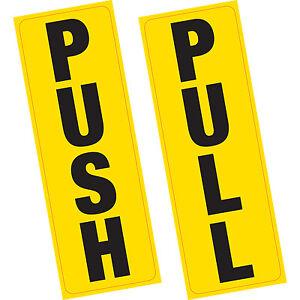 PUSH PULL Door Sign Vinyl Stickers Shop Business Home