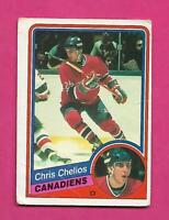 1984-85 OPC # 259 CANADIENS CHRIS CHELIOS  ROOKIE GOOD CARD (INV# D0844)