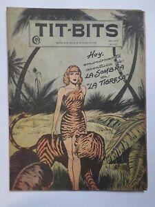 "RARE! - THE PHANTOM & ""THE TIGRESS"" - TIT-BITS #2262 (1952) - ORIG. IN SPANISH"