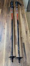 """Scott Alpine Series 2 Made in Italy 2 Ski Poles Aluminum 48"""" Red Black"""