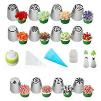 Stainless Steel Nozzles Set Silicone Pastry Bags DIY Cake Decorating Set Mout AE