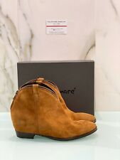 Lemare' Texano Donna 1841 In Suede Cuoio Made In Italy 41