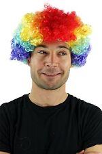 Parrucca Carnevale Ricci Clown Circo Buffone Colorato Afro multicolore PW0179