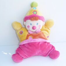 Doudou Clown Nicotoy - Rose Jaune