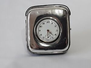 Edwardian silver pocket watch stand & solid silver pocket watch~working.