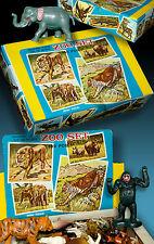 ZOO SET | 100 PLASTIKTIERE OVP BOX 70er HONG KONG ZOO ZIRKUS AFRIKA FIGUREN TOP!