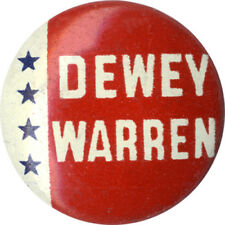Vintage 1948 Thomas DEWEY Earl WARREN Campaign Button (1175)