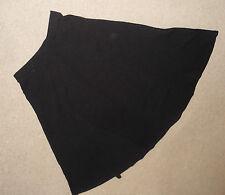 Per Una black colour elasticated waist long full skirt - size 10