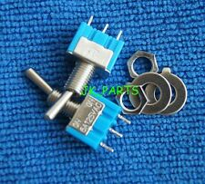 10pcs NEW Mini MTS-103 3-Pin SPDT ON-OFF-ON 6A 125VAC Toggle Switches