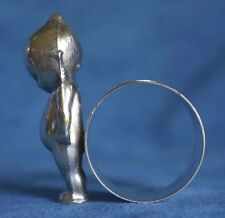 Antique Paye Baker Silver Kewpie Doll MOUNT TOM SUMMIT HOUSE Holyoke Napkin Ring