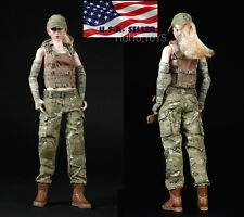 1/6 Women Soldier Combat Clothing Set Camouflage For Phicen Hot Toys Figure USA