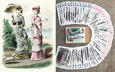 Playing Cards (Poker Deck 54 Cards) VICTORIAN FASHION Vintage Haute Couture 067