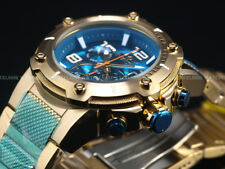 Invicta Men 51mm XL VIPER Turquoise Speedway Swiss Movmt Chrono 18KGIP SS Watch