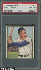 "1950 Bowman #33 Ralph Kiner Pittsburgh Pirates HOF PSA 4 "" LOOKS UNDERGRADED """