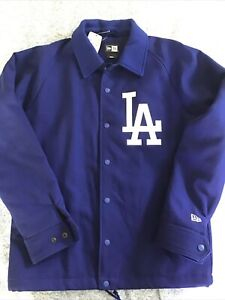 Los Angeles Dodgers New Era Coaches Jacket Rare Size Small