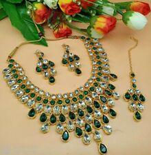 Indische Bollywood Brautmode Schmuck Halskette Set