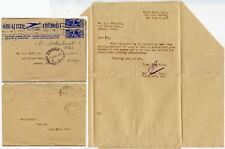 SOUTH AFRICA STATIONERY AIRLETTER to ATBARA REDIRECTED KENYA 1945 LIMURU