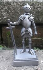 Metal Medieval KNIGHT in armour PENCIL SHARPENER - 9.5cm tall