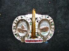 Vintage Washington DC US Capitol  Metal State Ashtray Made in Japan Souvenir #2