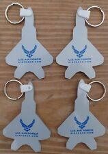 Lot of (4) U.S. AIR FORCE F-22 RAPTOR Key Chains Rubber USAF Fighter Jet Keyring