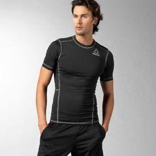 Men's Reebok Black Compression Short Sleeve T-Shirt