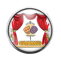 18MM Glass Dome Candy Snap Charm GD0057 Phlebotomist