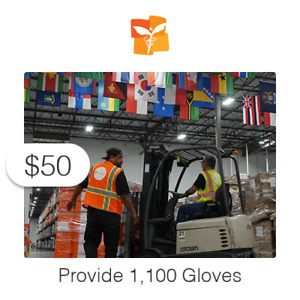 $50 Charitable Donation For: 1,100 Gloves