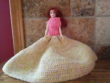 Doll- Vinyl- with hand crocheted dresses