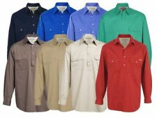 R.M. Williams Long Sleeve Button-Front Casual Shirts for Men