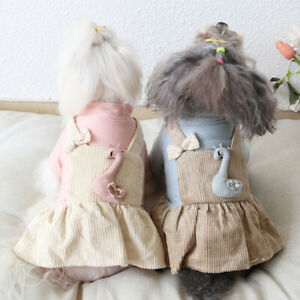 Dog Clothes Swan Dress Pet Dress Jackets Coat Cat Dog Jumpsuit Rompers Chihuahua