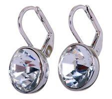 Swarovski Elements Crystal Bella Mini Pierced Earrings Rhodium Authentic 7172u
