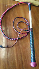 4.5ft Pink and Black Kangaroo Stock Whip Stockwhip
