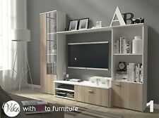 TV Wall Unit HUGO 220cm  in many colours EXPRESS & FREE DELIVERY