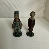 Vintage Toy Popeye And Olive Oil Set Cast Metal Figures Rare TV Characters 1950s