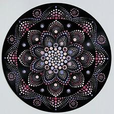 disc-mandala 6 / vinyl record mandala art handmade painting