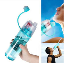 Spray Mist Stay Fresh Sipper Bottle For Gym Outdoor and Heat 600ml (Multicolor)