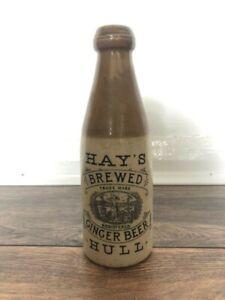 Antique Ginger Beer Stoneware Bottle Hays