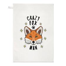 PAZZO FOX MAN STARS Strofinaccio piatto PANNO - divertente animale