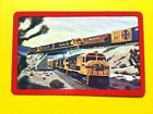 Santa Fe Railroad Crossing Trains Above & Below Single Swap Playing Card