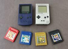Nintendo GAME BOY Color + GAME BOY Pocket + Pokémon Rot + Blau + Gold + TCG