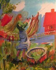 "NEW ORIGINAL LEON GOODMAN ""The Windy Day"" impressionism flower OIL PAINTING"